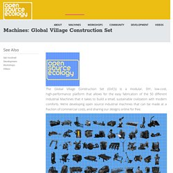 Machines: Global Village Construction Set