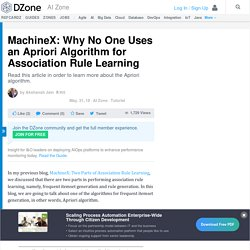 MachineX: Why No One Uses an Apriori Algorithm for Association Rule Learning - DZone AI