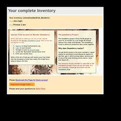 JASS Inventory
