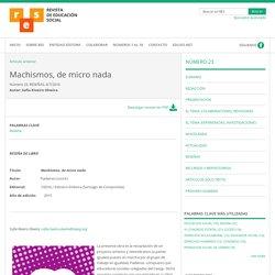 Machismos, de micro nada - RES. Revista de Educación Social