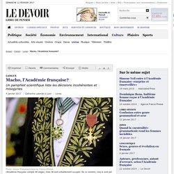 Macho, l'Académie française?