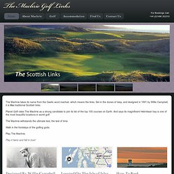 WELCOME TO THE MACHRIE HOTEL | ISLE OF ISLAY | SCOTLAND