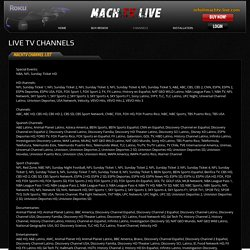 MachTV Live channel list