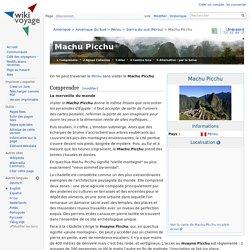 Machu Picchu — Wikivoyage