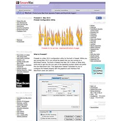 Macintosh Security Site -> Mac OS X Firewalk - Firewall Configur