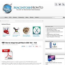 How to merge pdf files with preview in Leopard | Macintosh How To