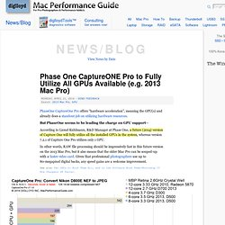 Macintosh Performance Guide: Latest News