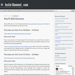 MacIT 2013 Sessions - Justin Rummel . com