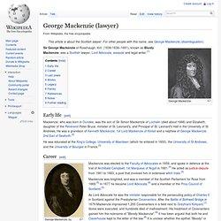 George Mackenzie (lawyer)