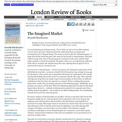 Donald MacKenzie reviews 'Machine Dreams' by Philip Mirowski · LRB 31 October 2002