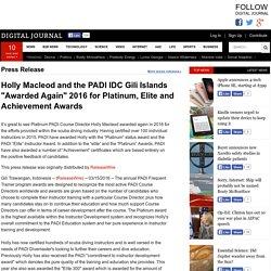 """Awarded"" again on the PADI IDC Gili Islands"