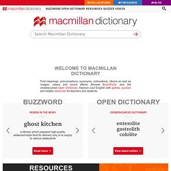 Macmillan Dictionary and Thesaurus: Free English Dictionary Online