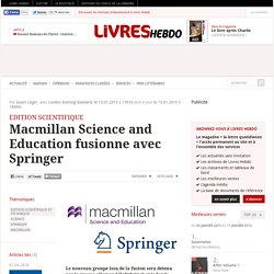 Macmillan Science and Education fusionne avec Springer