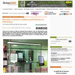 Macmillan invente un modèle de prêt d'ebooks en bibliothèque
