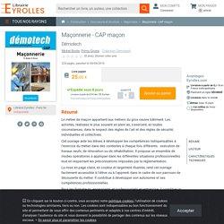 Maçonnerie - CAP maçon - Primo Grossi , Michel Bonte