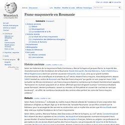 Franc- maçonnerie en Roumanie