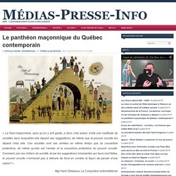 Le panthéon maçonnique du Québec contemporain