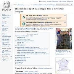 Théories du complot maçonnique dans la Révolution ...