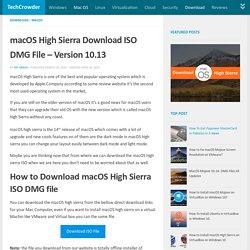 MacOS High Sierra Download ISO DMG File - Version 10.13.2