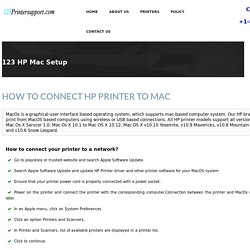 123.hp.com/MacOSsetup Wireless Printer Setup &Install