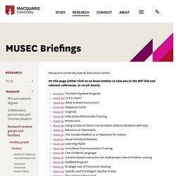 Macquarie University - MUSEC Briefings