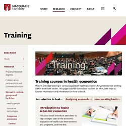 Macquarie University - Training