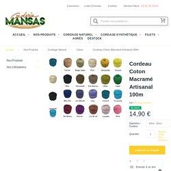 Corde Coton Macramé et Crochet 2, 3, 4mm Artisanal