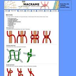 Macrame - friendship-bracelets.net/macrame