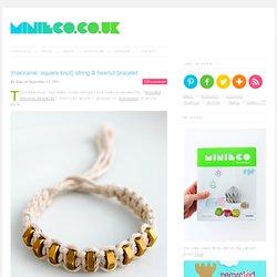 {macramé: square knot} string & hexnut bracelet