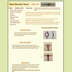 Basic Macrame Knots: A Free Tutorial by Dottie Hoeschen
