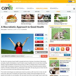 A Macrobiotic Approach To Good Health