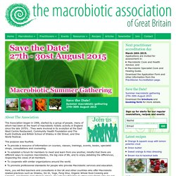 The Macrobiotic Association of Great Britain