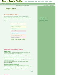 Macrobiotic Dietary Guidelines - What is the Macrobiotic Diet