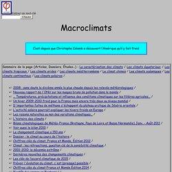 Macroclimats