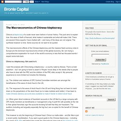 The Macroeconomics of Chinese kleptocracy