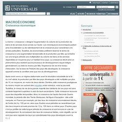 MACROÉCONOMIE - Croissance économique