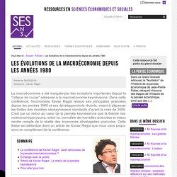 Les évolutions de la macroéconomie depuis les années 1980 — SES - 25/05/16