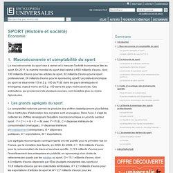 SPORT (Histoire et société) - Économie, Macroéconomie et comptabilité du sport