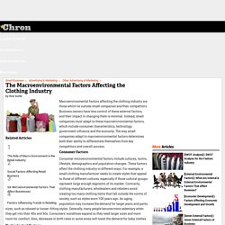 The Macroenvironmental Factors Affecting the Clothing Industry