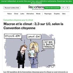 1er mars 2021 Macron et le climat: 3,3 sur 10, selon la Convention citoyenne