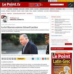 La loi Macron enterre Gérard Larcher