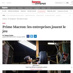 Prime Macron: les entreprises jouent le jeu
