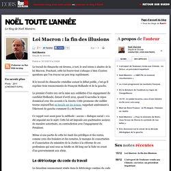Loi Macron: la fin des illusions