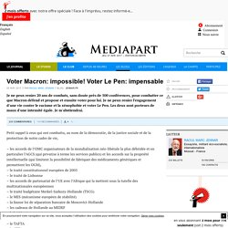 Voter Macron: impossible! Voter Le Pen: impensable