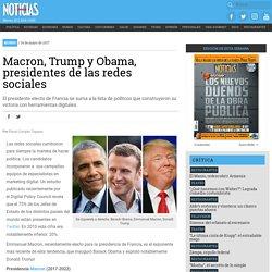 Macron, Trump y Obama, presidentes de las redes sociales