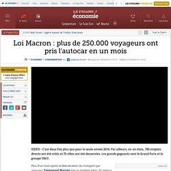 Loi Macron : plus de 250.000 voyageurs ont pris l'autocar en un mois