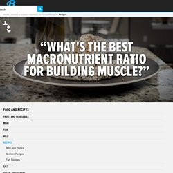 Ask The Macro Manager: What's The Best Macronutrient Ratio For Building Muscle?