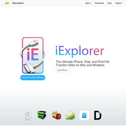 iPhone Explorer - A USB iPhone browser for Mac and PC