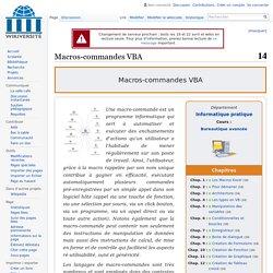 Macros-commandes VBA