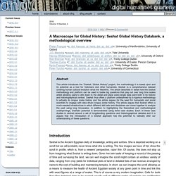 A Macroscope for Global History: Seshat Global History Databank, a methodological overview